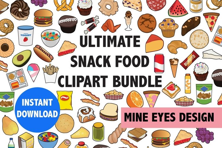 Ultimate Snack Food Clipart Bundle