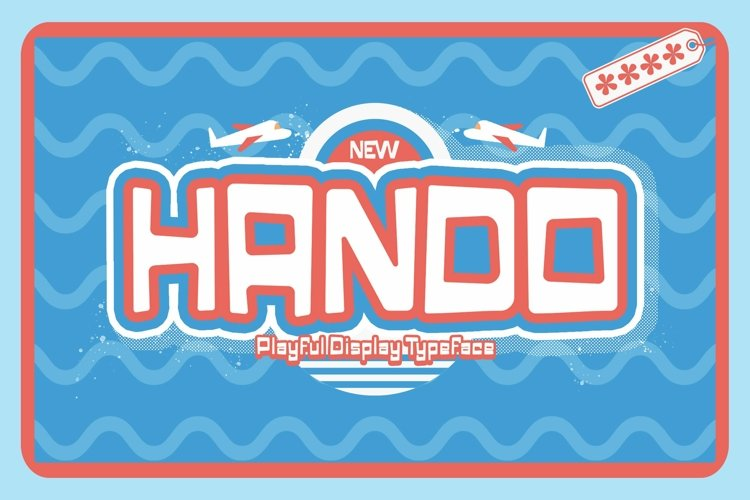 Web Font Hando example image 1