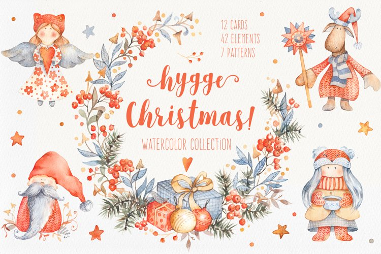 Hygge Christmas Watercolor Set