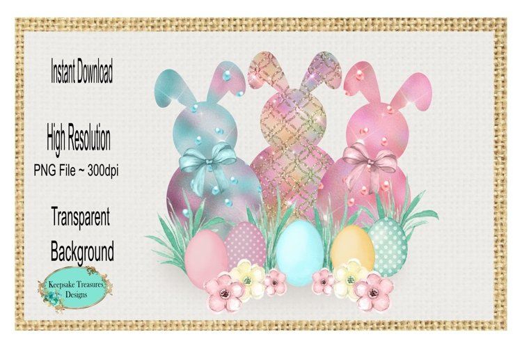 Spring Bunnies, Add Your Own Words, Sublimation Design