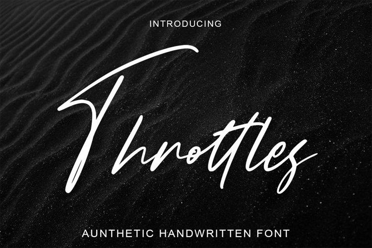Web Font Throttles - Signature Font example image 1