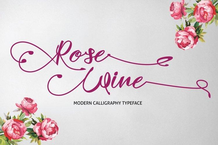Web Font Rose Wine Typeface example image 1