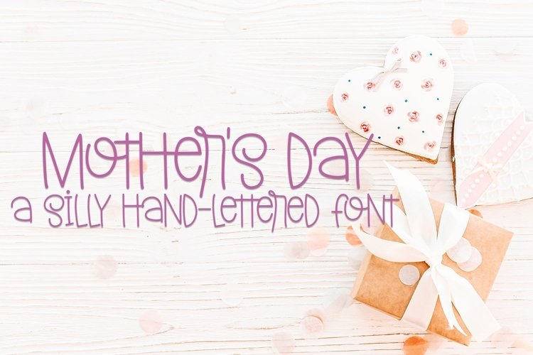 Web Font Mother's Day - A Silly Hand-Lettered Font example image 1