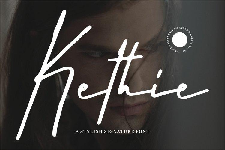 Kethie - A Stylish Signature Font example image 1
