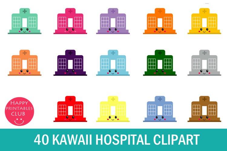 40 Kawaii Hospital Clipart- Hospital Clipart- Cute Hospital example image 1