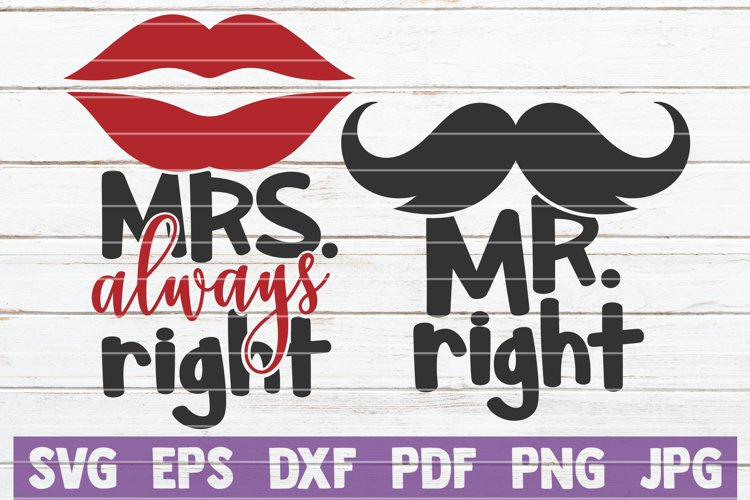 Mr Right - Mrs Always Right (219602) | Cut Files | Design