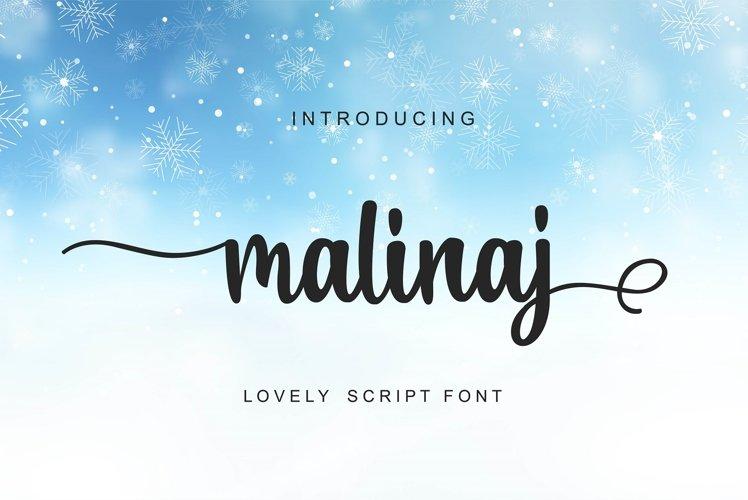 Malinaj Script example image 1