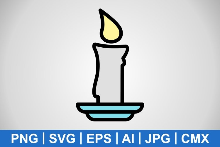 Vector Candle Icon example image 1