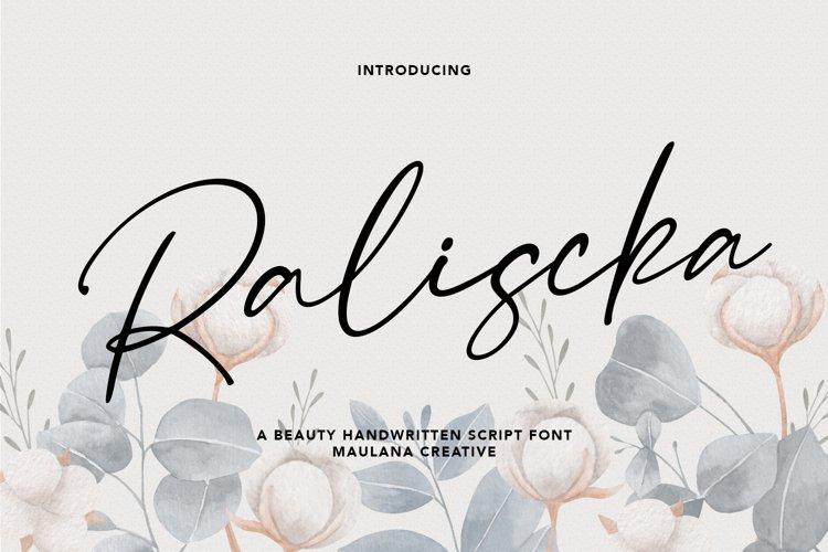 Raliscka Handwritten Script Font example image 1