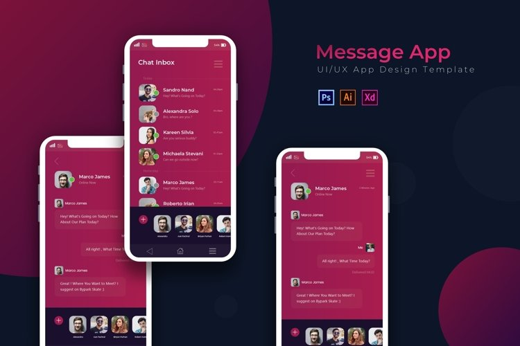 Messages   App Template example image 1