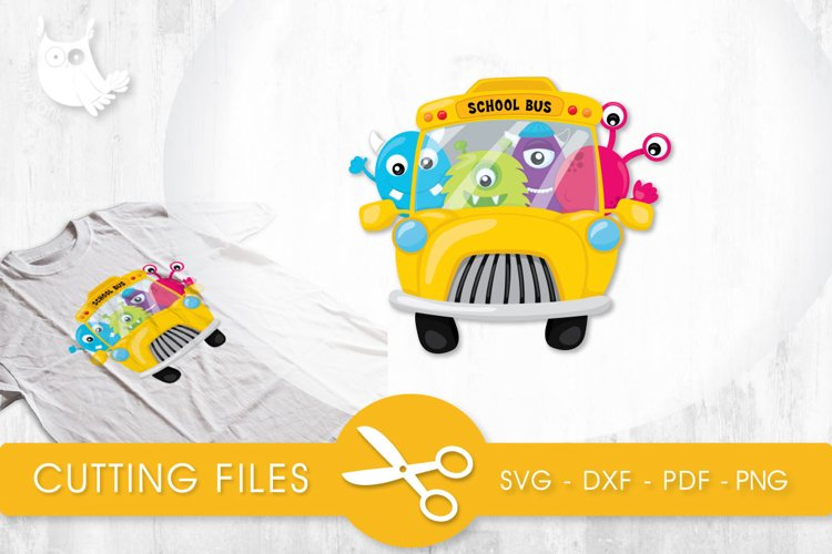 School Bus Monsters cutting files svg, dxf, pdf, eps included - cut files for cricut and silhouette - Cutting Files SG example image 1