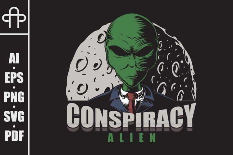 Conspiracy Alien vector illustration