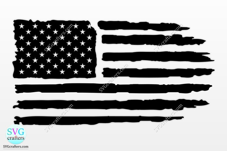 American flag svg, 4th of july svg, Distressed flag svg example image 1