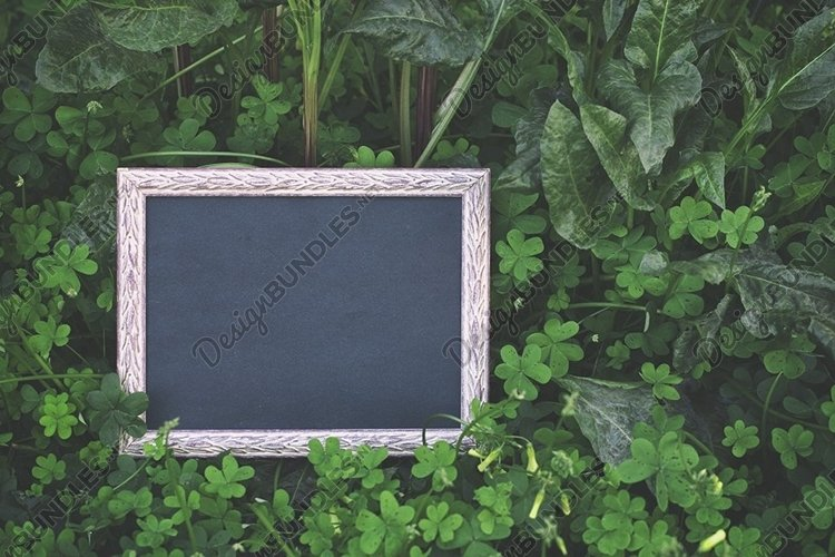 Mock up of a wooden photo frame. Mockup Memorial frame. Text example image 1