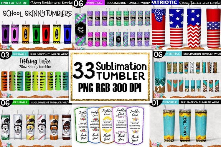 20 Oz. Skinny Tumbler sublimation bundle Vol 5
