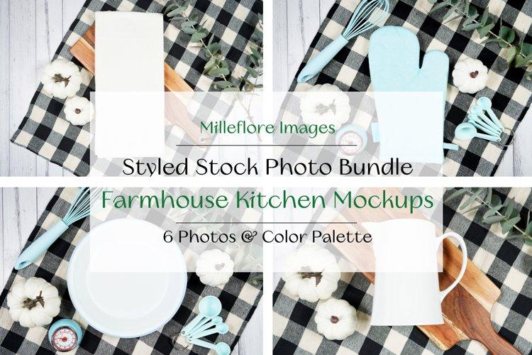 Farmhouse Kitchen Flatlays Craft Mockups JPEG Photo Bundle