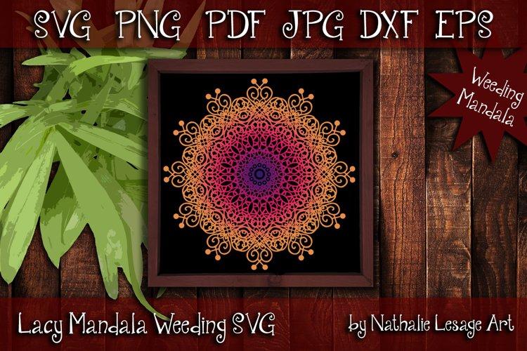 Lacy Mandala SVG Zentangle Style Weeding And Sublimation