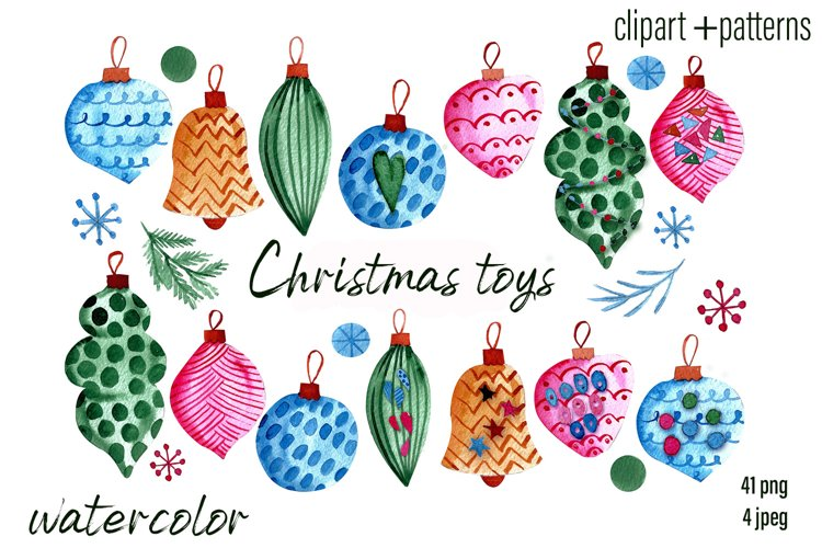 Christmas Toys & Ornaments Clipart example
