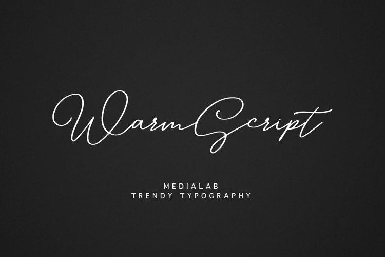 Warm Script example image 1
