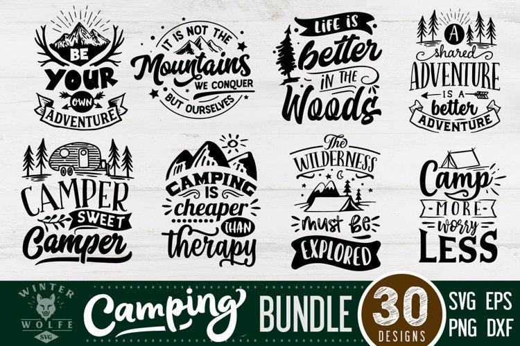Camping bundle 30 designs SVG EPS DXF PNG