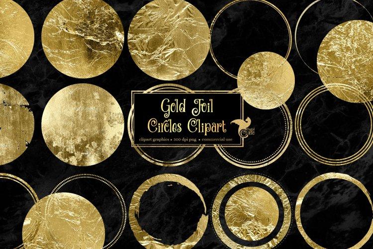 Gold Foil Circles Clipart