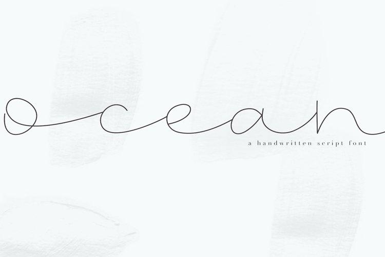Ocean - Handwritten Script Font example image 1