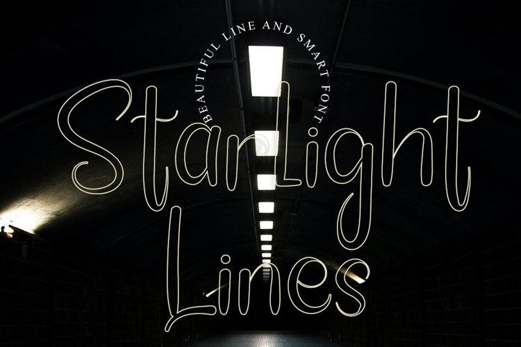 Starlight Lines - Beautiful Line Font example image 1