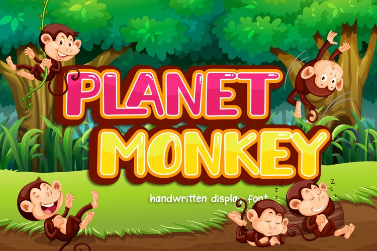 Planet Monkey - a Cute Display Font example image 1