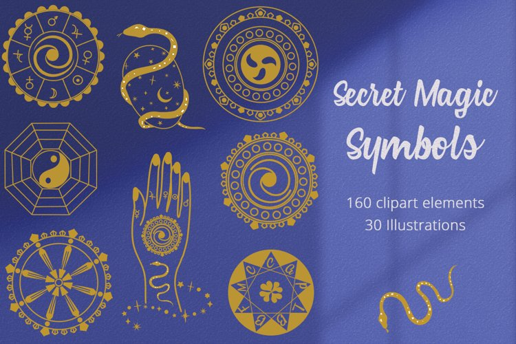 Secret Magic Symbols Illustration Set