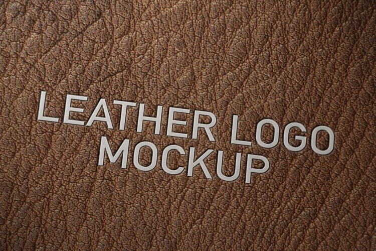 leather logo mockup 142697 mock ups design bundles leather logo mockup
