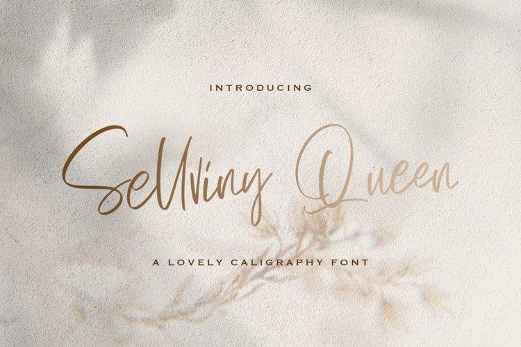 Sellviny Queen - Handwritten Font example image 1