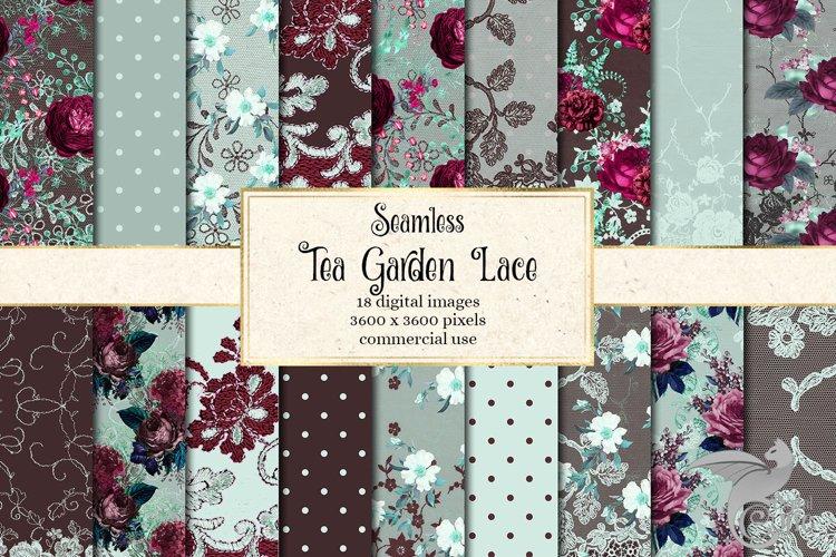 Tea Garden Lace Digital Paper example image 1