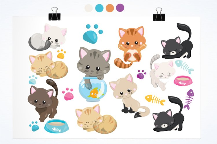 Adorable Kitties graphics and illustrations - Free Design of The Week Design0