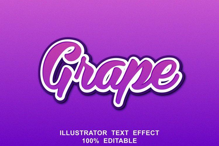 grape text effect editable vector example image 1