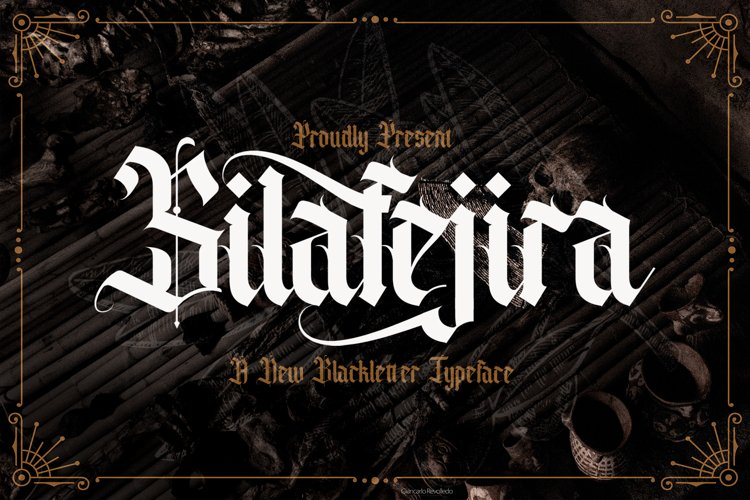 Silafejira - Blackletter Font example image 1