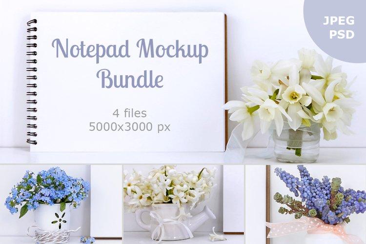 Notepad mockup bundle  example image 1