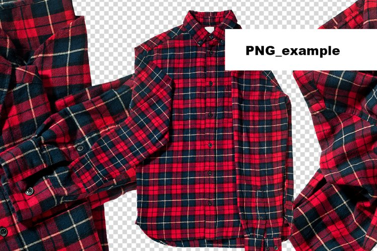 Christmas check red shirts isolated on white Element Object example 5