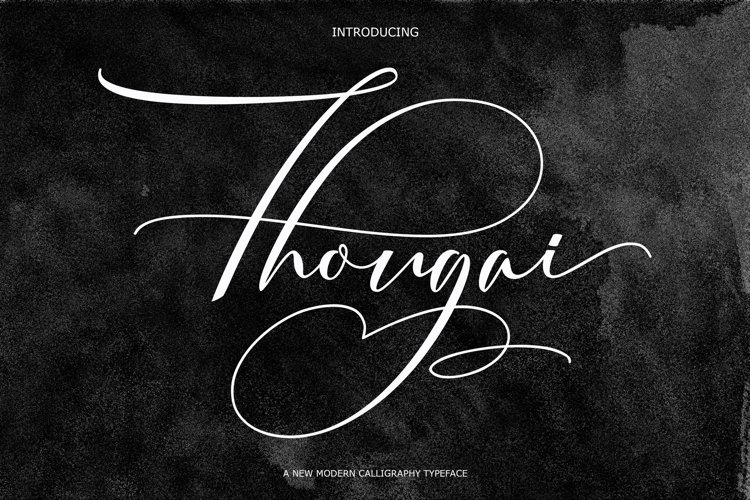 Thougai | font script
