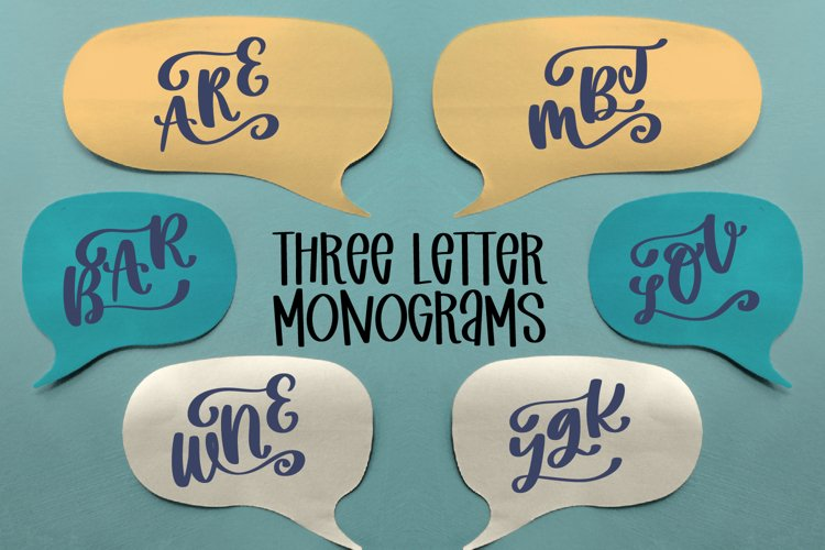 Three Letter Monogram Font example image 1