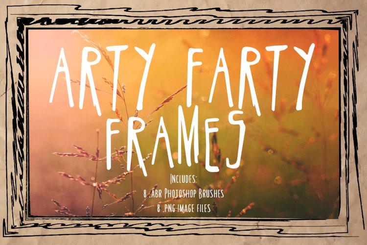 Doodle Frames & Photoshop Brushes - Arty Farty Frames example image 1