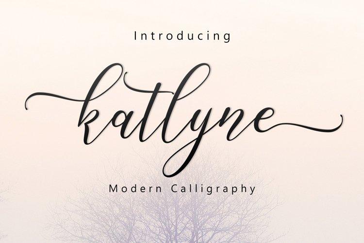 Katlyne Script example image 1