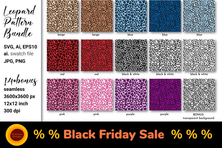 Leopard print SVG Leopard background Leopard pattern bundle example image 1