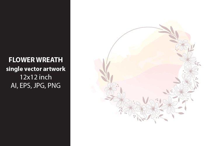 flower wreath- VECTOR ARTWORK example image 1