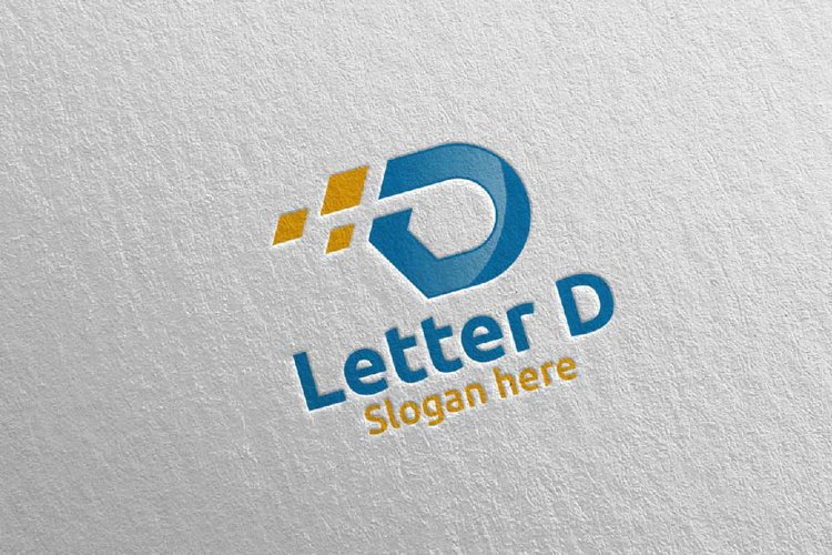Letter D Digital Marketing Financial Logo 59 example image 1
