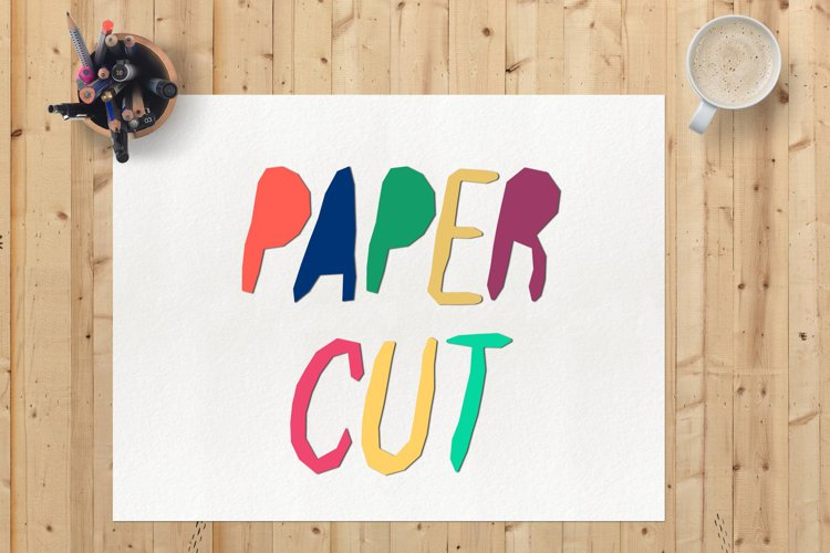 Paper Cut Out Font example image 1