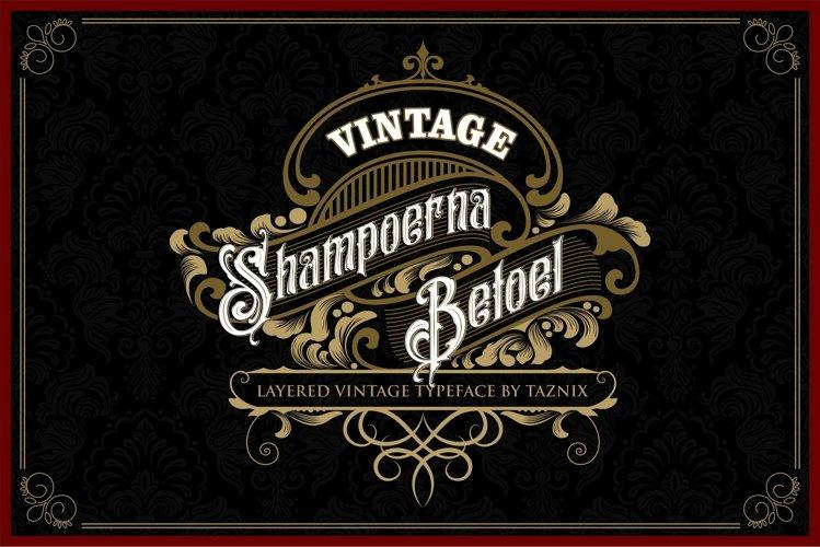 Shampoerna Betoel Layered Vintage Font example image 1