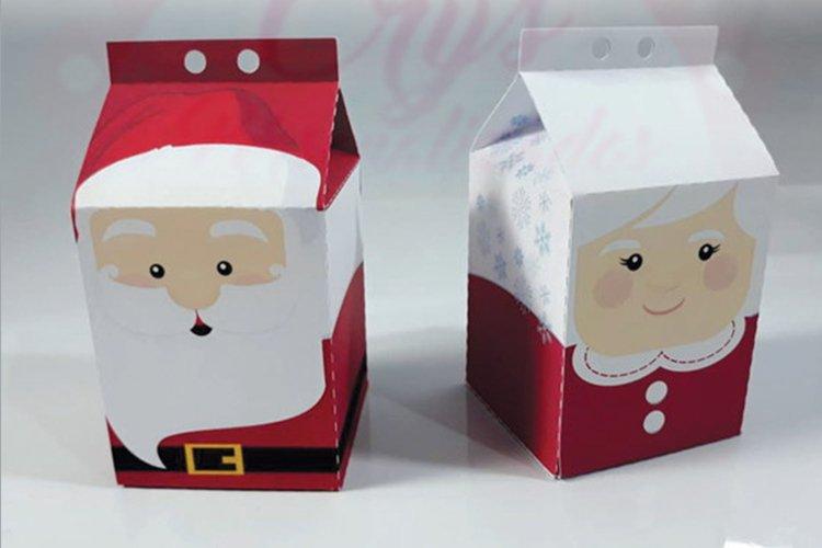 Christmas theme milk box