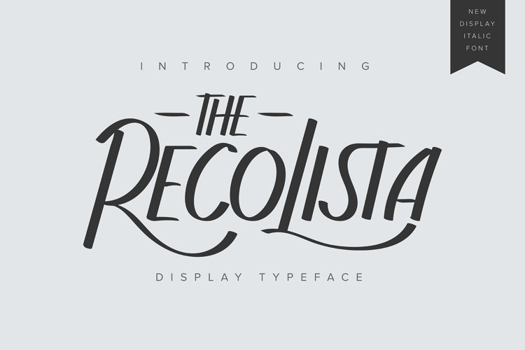 The Recolista   Display Typeface example image 1