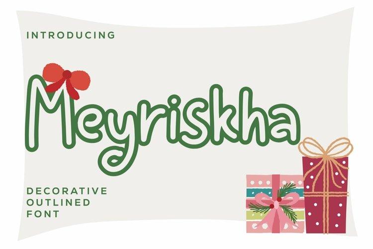 Web Font Meyriskha - Decorative Font