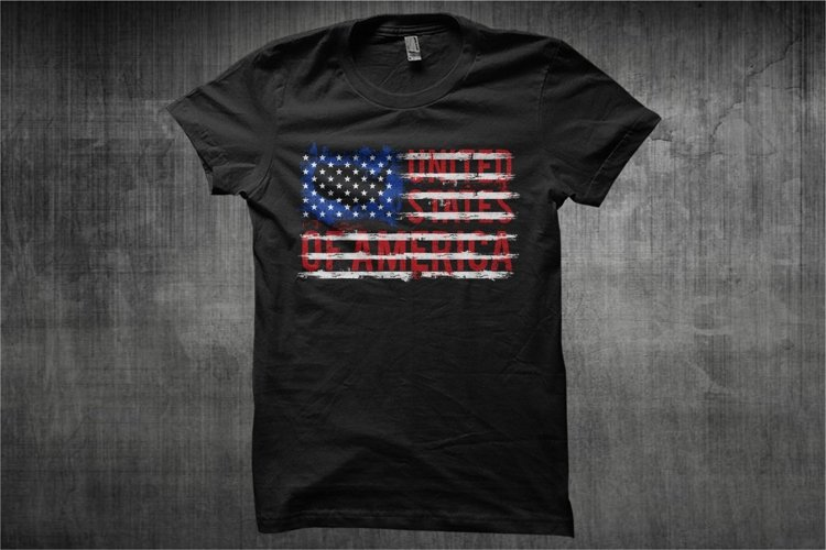 American Flag Text - Typography American Flag
